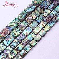 colar contas retângulo venda por atacado-8x12.10x14.12x16mm Suave Retângulo Multicolor Natural Stone Beads Para Colar de Jóias Fazendo 15