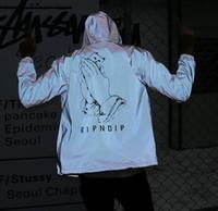 ingrosso giacche riflettenti per gli uomini-Giubbotto riflettente da uomo Casual RIPNDIP Designer Uomo Giacca Primavera Autunno Casual Street 3M