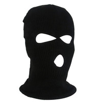 Wholesale face mask winters for sale - Group buy OutdoorCycling Acrylic Yarn Full Face Mask Bicycle Ski Bike Ride Mask Winter Cap Balaclava Hood Army Tactical Hole