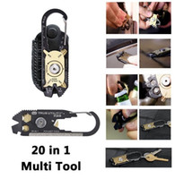 Wholesale utility tool keychain resale online - FIXR Outdoor Sports Portable Utility Pocket in Multifunction Wrench Screwdriver Opener EDC Survival Keychain Tool