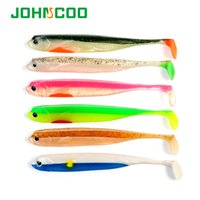 Wholesale silicone lure for saltwater for sale - Group buy fishing for beginners JOHNCOO Saltwater Fishing Shad Soft Bait D Eyes cm g Silicone Artificial Fish Bait Soft Plastic Lure