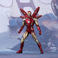 Wholesale best lighted toys for sale - Group buy Marvel Avengers Endgame Iron Man Action Figure Ironman Mk85 With Light Base Cute Model Toys Best Christmas Gift For Kids Toys
