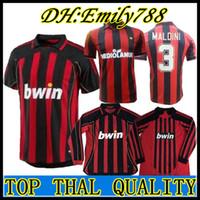 Long sleeve 90 91 Retro shirts home 2008 Gullit SOCCER JERSEY 1990 1991  Maldini Baresi Van Basten football RONALDO KAKA Inzaghi 2006 07 413727797