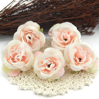 gefälschte mini-rosen großhandel-10 teile / los Mini Künstliche Blumen Seide Rosen Köpfe Für Hochzeitsdekoration Party Gefälschte Scrapbooking Blumenkranz Wohnaccessoires