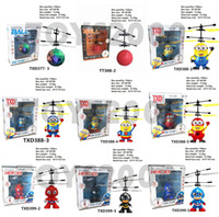 Wholesale model drones resale online - 10 models RC Drone Flying copter Ball Aircraft Helicopter Led Flashing Light Up Toys Induction Electric Toy sensor Kids piece