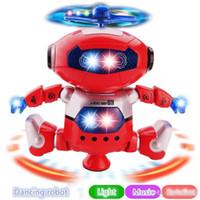 oyuncak piller açtı toptan satış-LED Işıkları ile elektrikli Oyuncaklar Dans Dönen Robot Müzik Patlama Istihbarat Oyuncak ile Akülü Doğrudan Shenzhen Çin Toptan