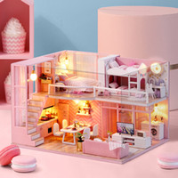 Wholesale miniature houses resale online - DIY Doll House Furniture Dream Angel Miniature Dollhouse Toys for Children Sylvanian Families House Casinha De Boneca Lol House
