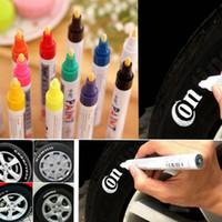 marcador caneta venda por atacado-Tire Marcação Pen Universal impermeável motocicleta Permanente do pneu de carro do pneu Pinte 100pcs Marcador Pen HOT EEA128