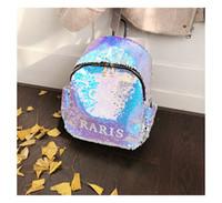 büyük sevimli sırt çantaları toptan satış-Moda pullu kız sırt çantası sevimli küçük prenses çanta alışveriş seyahat mektubu küçük sırt çantası büyük çocuk çantası