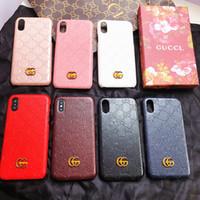 iphone hard kapaklı telefonlar toptan satış-Iphone Xs max için moda marka kabartmalı mektubu G telefon kılıfı kapak iphone X Xr 7 7 artı 8 8 artı 6 6 artı sert arka kapak