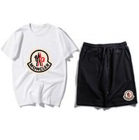 chándales de tendencia al por mayor-2019 New Trend Brand Trajes de sudadera Diseñador Hombre Ejecución de Chándales Traje Traje de hombre Casual Manga corta + pantalones cortos Conjuntos de ropa deportiva