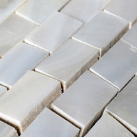 Wholesale pearl white mosaic wall tile for sale - Group buy 15x25mm White Mother of pearl tiles kitchen backsplash brick shell mosaic bathroom tiles MOP128