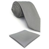 gravatas brancas pretas dos homens venda por atacado-F33 Houndstooth Branco Preto Moda De Seda Nova Marca Gravata Dos Homens Gravata Clássico Jacquard Tecido