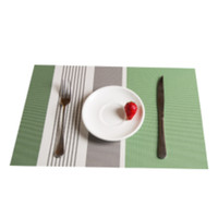 Wholesale foods fiber for sale - Group buy Newest PVC Household Environmental Protection Mat Hotel Western style Food Bowl Mat Table Mat Heat Insulation Matt cm DH0076