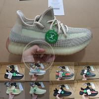 erkekler için yeni koşu ayakkabıları toptan satış-Kutu Ile 2019 Kanye West Koşu Ayakkabıları Yeni Antlia Statik Yansıtıcı Kil Klasik Krem Beyaz Erkek Kadın Tasarımcı Sneakers Boyutu 36-48
