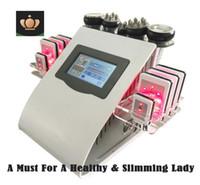 cuidado de la almohadilla al por mayor-Alta calidad nuevo modelo 40 k ultrasónico liposucción cavitación 8 almohadillas láser vacío RF cuidado de la piel salón Spa máquina de adelgazamiento equipo de belleza