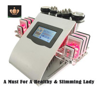 machine ultrasonique de soin de peau achat en gros de-Liposuccion ultrasonique de haute qualité nouveau modèle 40k cavitation 8 tampons laser sous vide rf soins de la peau salon spa amincissant la machine équipement de beauté