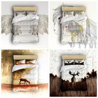 Luxuy Designer Bed Comforters Sets 4pcs 3d Digital Printing Soft Quilt  Duvet Cover Bedding Set Bed Linen Single Double Queen King All Sizes