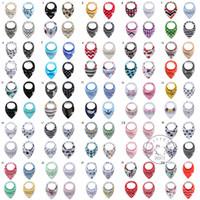 baberos de bebé diseños de animales al por mayor-INS baberos para bebés Burp Cloths 100 Diseños Flecha Tienda de Animales Estampados Bandana Bebés Tela de Saliva Algodón Lindo de la Historieta Bufanda de Alimentación al por mayor