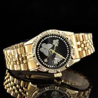 ingrosso bracciale watche-2019 diamond watche relogio masculino mens orologi Luxury fashion designer di moda calendario quadrante nero Bracciale oro chiusura chiusura Master Maschio