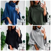 Wholesale wool capes cloaks for sale - Women Poncho Coat Cloak Winter Warm Loose Batwing Wool Cape Parka Outwear Asymmetric Jacket Lady Clothes IIA95
