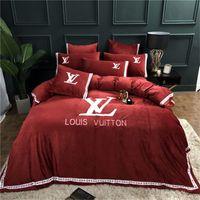 Wholesale floral print comforter sets resale online - Floral Print Stripe Bedding Set Fashion Bed Sheet Duvet Cover Pillowcase Pieces Comforter Cover Set Home Textile With Gift Bag