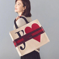 bolsas de playa blanca al por mayor-TS Valen's Day Tote Hand Bag Womens Designer Ladies High Quality Luxury Hot Sale Casual White Red Beach Bag TSYSBB138