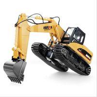 cargar 4 g al por mayor-Juguetes huina 15 Canal 2 .4G 1/12 Rc Excavadora de carga 1: 12 Rc coche con la batería Elo