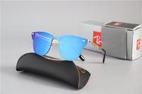 Wholesale newest brand sunglasses resale online - High Quailty Newest Hot sale Aluminum Magnesium Ray Sunglasses Men Women Brand designer Mirror Eyewear sport glasses With Box and cases