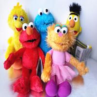 juguetes de cosas grandes al por mayor-Juguete suave Sesame Street Elmo Cookie Monster Big Bird Bert Ballerina Zoe 24CM Muñeca de peluche Relleno Mejor regalo Juguete suave EEA363