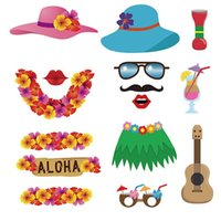 Wholesale photo hawaii resale online - Funny Modeling Take Photo Prop Summer Hawaii Seaside Party Supplies Multiple Styles More Color Hot Sales DIY Paste gpC1