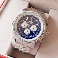 синие мужские часы оптовых-2018 качество новый бренд автоматические мужские часы NAVITIMER черный циферблат синий модные мужские часы