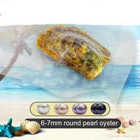 Wholesale cultured pearls loose resale online - 2020 SeaWater Natural Akoya Round Pearls Loose Beads Cultured Fresh Oyster Pearl Mussel Farm Supply Dropshipping mm Multicolor