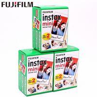 Wholesale fuji camera wholesale online - Original Fuji Fujifilm Instax Mini Film White Edge Photo Papers For s Share SP SP Instant Camera