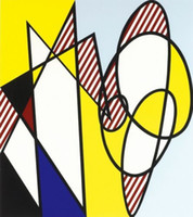 Wholesale best abstract art painting canvas resale online - Roy Lichtenstein Oil Painting On Canvas Pop Art Home Decor Best Buddies Handcrafts HD Print Wall Art Canvas Pictures