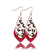 Wholesale teardrop amethyst for sale - Group buy New New Layered Flat Leather Earrings for Women Bohemian Vintage Teardrop Dangle Earrings Fashion Jewelry Personalize