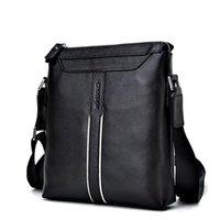 schwarze mode tasche großhandel-Schöne vogue schwarz umhängetaschen für männer aus echtem leder umhängetasche männer handtasche casual bag buckskin muster