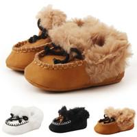 bebek giyim terliği toptan satış-Yenidoğan Bebek Erkek Kız İlk Walkers Kaymaz Kış Sıcak Toddler Hayvan Ayak Bebek Ayakkabı Patik Terlik Yumuşak Sole Beşik ayakkabı
