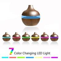hava nebülizörü toptan satış-300ml Ultrasonik Hava Nemlendirici Arıtma Aroma 7 renk Işıklar A02 LED ile Ağaç Damarı şekil Ev Nebulizatör ile Esansiyel Yağı Yayıcı