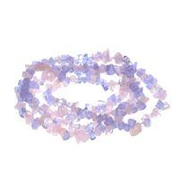 pérolas de pedras venda por atacado-Cupons de novembro de Forma Livre Ágatas Lilás Rosa Rosa Quartzs Stone Chips Beads para Fazer Jóias Cristal DIY Pulseira Colar Livre