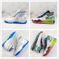 Wholesale colorful sneaker laces resale online - 2019 Zoom KD12 EP Basketball Shoes White Blue Colorful Mens Designer Waterproof Outdoor Sport Trainers Sneaker Size