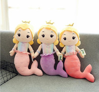 Wholesale girls princess bedding resale online - Cute Mermaid Plush Toy Sleeping Pillow Bed Doll Princess Boys And Girls Birthday Gift Comfortable Soft Hot Sell