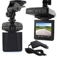 video kamera 2.5 toptan satış-H198 Araç DVR 2.5 İnç 270 Derece Döndürülmüş Ekran 6 IR LED Araç Döngüsü Kayıt Dash Araç Kamera Bisiklet Registrator