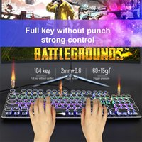 Wholesale new products computers for sale - Group buy best selling products New N518 Punk Robot Wired Keyboard And Mouse Set Round Key Cap For PC Computer support dropshipping