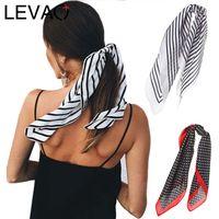 Wholesale korea scarf resale online - LEVAO Korea Fashion Print Handkerchief Hair Ribbon Hair Scarf Elastic Band Women Headband Girls Headwear Accessories