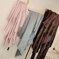 Wholesale red nylon scarves for sale - Group buy 2018 High Quality Celebrity design Silk Scarf wrap shawl Summer Woman Silk Letter badge Printing Sun protection Scarves