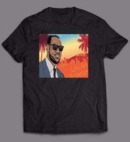 videokunst großhandel-LEBRON JAMES LAKERS HOLLYWOOD-VIDEOSPIEL CUSTOM ART MASHUP-Shirt * FULL FRONT * Jersey T-Shirt mit Print