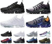 çamaşır suyu mavisi toptan satış-Yeni Tasarımcı ayakkabı Unisex TN ARTı Koşu Ayakkabıları Oyunu Kraliyet Gökkuşağı Spor Sneakers ağartılmış aqua ÜÇLÜ BEYAZ SIYAH Solma Mavi VOLT Trainer