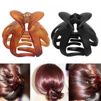 ingrosso grandi morsetti-Moda nuove donne capelli artiglio clip di plastica grande capelli morsetto accessori per capelli tornanti nuovi abbigliamento / accessori di abbigliamento