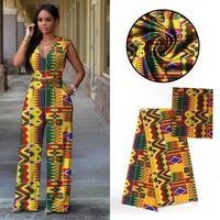 modaya uygun afrikalı elbiseler toptan satış-4 Yards Moda renkli baskılı desen afrika audel. Model ipek dantel kumaş ve 2Yds şifon eşarp elbise VS21-1 için